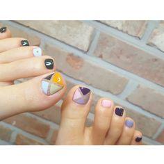 korean nail art More Korean Nail Art, Korean Nails, Cute Toe Nails, Toe Nail Art, Pedicure Designs, Manicure E Pedicure, Fall Nail Art Designs, Toe Nail Designs, Nail Art Pieds