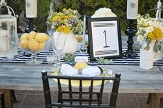 lemons make cheap and chic table decor