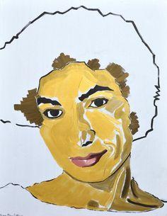Debut Contemporary | Portrait of Forough Farrokhzad by Sassan Behnam Bakhtiar