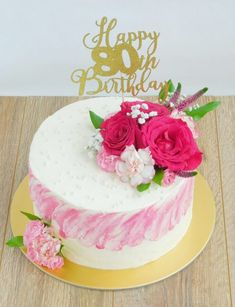 Tort chałwowo - waniliowy z frużeliną malinową - Wędrówki po kuchni Cake Decorating Techniques, Floral Cake, Cheddar, Smoothies, Birthday Cake, Favorite Recipes, Flower Cakes, Cake Ideas, Kitchen