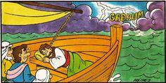 La tempête apaisée (visuels) - Levangelisation (section Enfants)