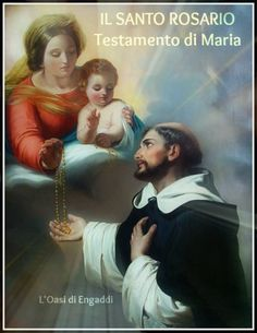 Saint Dominic given the Rosary by St. Mary, Our Lady of the Rosary, in the… Catholic Art, Catholic Saints, Roman Catholic, Patron Saints, Saint Dominic, Rosary Guide, Scriptural Rosary, Image Jesus, Saint Benoit