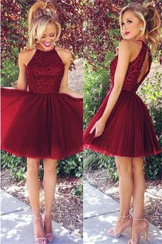 60ba75363406 Lovely Burgundy Short Beading Tulle Cute A-line Homecoming Dresses Z1311  Top Wedding Dresses