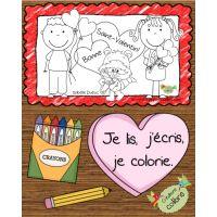 Livre St-Valentin, Je lis, j'écris, je colorie.