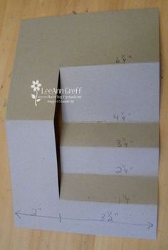 Card Tutorial Very cool layered step card when finished (picture is deceiving)Very cool layered step card when finished (picture is deceiving) 3d Templates, Card Making Templates, Card Making Tutorials, Card Making Techniques, Card Making Tips, Tri Fold Cards, Fancy Fold Cards, Folded Cards, Joy Fold Card