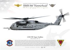 """UNITED STATES MARINE CORPS MARINE HEAVY HELICOPTER SQUADRON 366 (HMH-366) """"Hammerheads""""MARINE AIR GROUP 29 Marine Corps Air Station Cherry Point"""