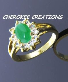 'Genuine Jade CZ Ring Size 6 or 7' is going up for auction at  6am Mon, Aug 20 with a starting bid of $7.