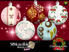 SIMcredible!'s Christmas Icons Patterns
