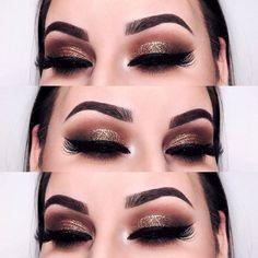 Sombra marrom com glitter credits IG Paulina – pink unicorn makeup style Glitter Makeup, Glam Makeup, Love Makeup, Makeup Inspo, Eyeshadow Makeup, Makeup Inspiration, Makeup Brushes, Beauty Makeup, Hair Makeup
