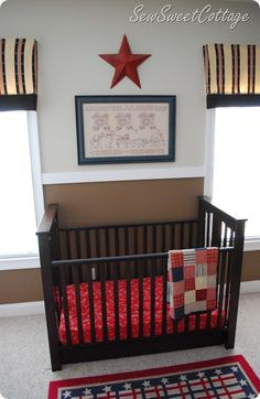 red, white, and blue nursery...inspiration for our little one