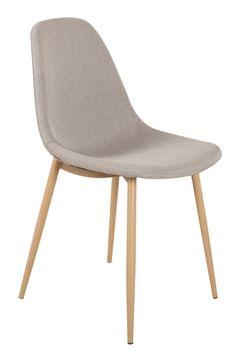 73251c791a82ee Chaise STOCKHOLM design scandinave tissu gris clair. INSIDE75 · Fauteuils  et chaises déco · Détails Fauteuil MIRANDA style scandinave avec pouf ...