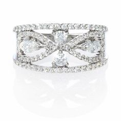 1.08ct Diamond 18k White Gold Ring