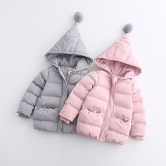 146.70$  Buy here - http://ali684.shopchina.info/go.php?t=32762579800 - Kids Pockets Clothes Baby Girls Autumn Winter Outerwear Children Zipper Thickened Solid Clothing Hooded Casual Fashion 5pcs/LOT  #bestbuy