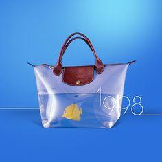 In 1998… The totally transparent Le Pliage Aquarium was created! @Longchamp #LePliage20