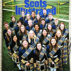 #footballprogram featuring the awesome #bandseniors in their senior #kilts 💙💛(love you cml!) #bandkids #marchingband #bandswag #highschoolseniors #highlanderband #highlanderbandswag #bandkidsrock