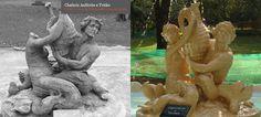 Restoration of Amphitrite and Triton fountain.  Buenos Aires Square, Sao Paulo. Arch. Olympio Augusto Ribeiro
