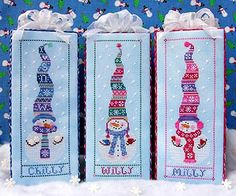 Free+Christmas+Cross+Stitch+Patterns | Cross Stitch Snowman Patterns - Pattern Collections