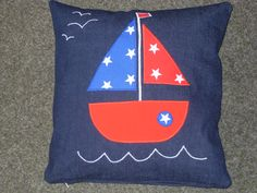 handmade boat cushion made by me!