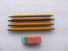 Rare Vintage Mechanical Pencil and Rubber Eraser by freeshopman