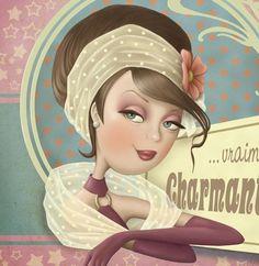 Nina de San Art Et Illustration, Illustrations, Decoupage, Creation Photo, Holly Hobbie, Marquis, Art Themes, Love And Light, Art Pictures