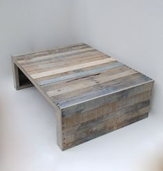 Living Room Furniture. Minimalist, industrial Design.  Modern Grey Pallet Coffee Table by RAKAMod on Etsy.