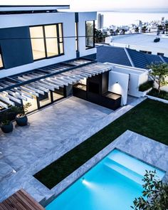 This beautiful Fresnaye home is tiled with a consistent effect, featuring Stratus Original tiles throughout the interior and exterior.