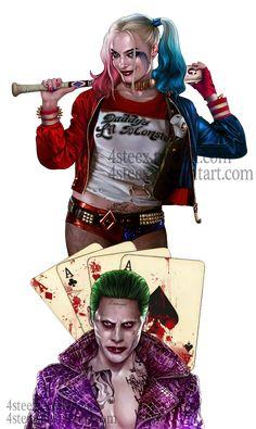 Commission: Joker and Harley Quinn tattoo design by 4steex on DeviantArt