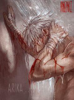 Brave Shine ...Depletion by kanzzzaki.deviantart.com on @DeviantArt | Wounded Kakashi in shower