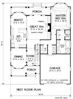 Floorplan The Prynwood House Plan #818