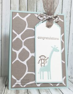 Baby Announcement Cards Boy Stampin Up 38 Ideas Baby Boy Cards, Baby Shower Cards, Baby Announcement Cards, Baby Boy Themes, New Baby Boys, Baby Baby, Baby Boy Birthday, Handmade Baby, Handmade Ideas
