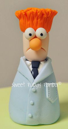 Beaker From The Muppets - change the hair colour to get Mark Gammon! Polymer Clay Kunst, Fimo Clay, Polymer Clay Projects, Polymer Clay Charms, Polymer Clay Creations, Clay Crafts, Biscuit, Jumping Clay, Clay Figurine