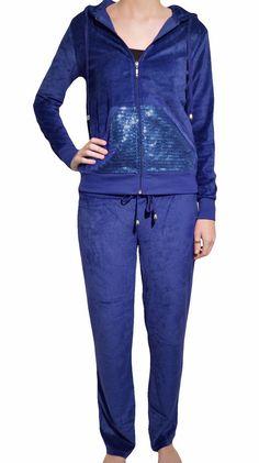 Central Park Velour Track Suit Set Womens M-XL Zip Up Jacket Lounge Sweat Pants  #CentralWest #TrackSweatPants