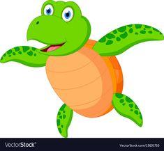 Happy sea turtle cartoon vector image on VectorStock Orcas, Laura Lee, Vector Verde, Adobe Illustrator, Turtle, Cartoon Download, Clip Art, Vector Freepik, Sea