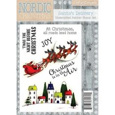 Crafters Companion Nordic Christmas A6 Stamp Santa's Delivery