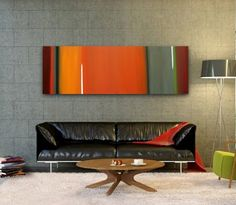Original Abstract Painting modern painting contemporary artwork large wall decor art acrylic bright color horizontal painting lines Modern Art Paintings, Modern Artwork, Acoustic Wall Panels, Contemporary Abstract Art, Living Room Art, Wall Art Decor, Home Decor, Journal Ideas, Craft