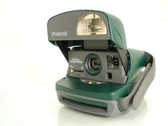 Polaroid One Step Express Hunter Green Gray Logo 600 Instant Film Camera - SOLD - Other items up for sale here! http://www.ebay.com/sch/pealfaro/m.html?_nkw=&_armrs=1&_from=&_ipg=&_trksid=p3686