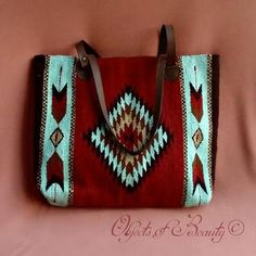 Colornation Manos Zapotecas Gloria Tote features an Ancient Zapotec Diamond Design Vintage Bags, Vintage Handbags, Leather Handle, Leather Purses, Leather Crossbody, Diamond Design, Tote Handbags, Purses And Bags, Hand Weaving