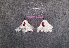 Orecchini a fiore fatti a mano #elenashands #fattiamano #handmade #orecchini #handmadejewelry