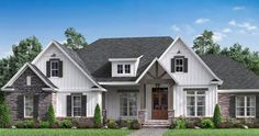 House Exterior Remodel Beds For 2019 House Paint Exterior, Dream House Exterior, Exterior House Colors, Exterior Houses, House Exteriors, Exterior Design, Modern Farmhouse Exterior, Farmhouse Plans, Affordable House Plans