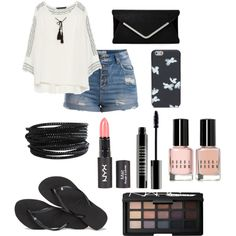 Freedom by hellofashion22 on Polyvore featuring polyvore, fashion, style, Zara, Pieces, Havaianas, MARC BY MARC JACOBS, Lord & Berry, Bobbi Brown Cosmetics and NARS Cosmetics