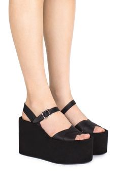 Jeffrey Campbell Shoes SAUBLE Platforms in Black Combo