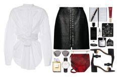 """""""BAKER MIX"""" by mariimontero ❤ liked on Polyvore featuring E L L E R Y, Magda Butrym, M2Malletier, Daniel Wellington, Gianvito Rossi, Christian Dior, Smythson, Chanel, Too Faced Cosmetics and Topshop"""