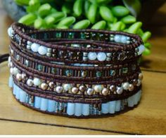 TUTORIAL DIY 'Creme de Menthe' 4 Wrap Bracelet