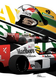 Ayrton Senna Poster on Behance Stock Car, Aryton Senna, Gp F1, E Motor, Automobile, F1 Racing, Racing Helmets, Drag Racing, Car Illustration