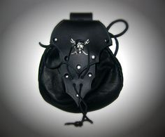 SUMMERS END SALE Black Leather Jolly Roger by Dredmorsplunder, $36.00