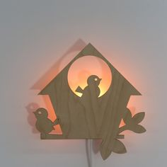 Wood Lamps, Bird Houses, Cool Kids, Cross Stitch, Diy, Table Lamp, Flooring, Lighting, Crafts