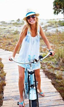 Biking along 30A...Seaside, Watercolor, Rosemary Beach makes me SO HAPPY!
