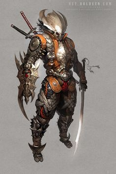 Currently browsing 22 Illustrations with Incredible Details by Dean Holdeen for your design inspiration Character Design References, Game Character, Character Concept, Fantasy Armor, Medieval Fantasy, Fantasy Inspiration, Character Inspiration, Design Inspiration, Armor Concept
