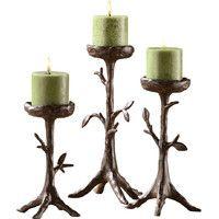 3-Piece Sparrow Candleholder Set