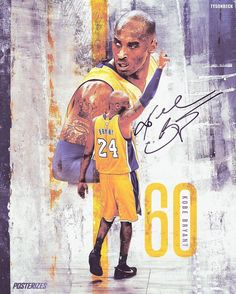 """days ago left the court for the final time with 60 pts, outscoring the Jazz in the final 2 mins"""" Basketball Art, Basketball Pictures, Basketball Legends, Basketball Players, Kobe Bryant Family, Kobe Bryant Nba, Nba Sports, Sports Art, Kobe Mamba"""